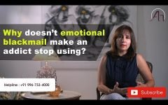 Why doesn't emotional blackmail make an addict stop using?